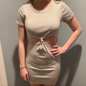 Striped Bodycon T-Shirt Dress